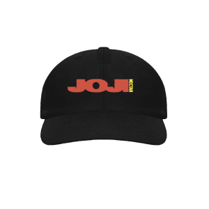 JOJI MERCH NECTAR CAP in black with red text