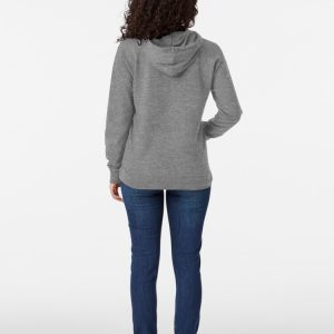 woman joji hoodie in grey with front pockets