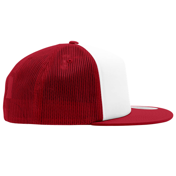 Joji Foam Trucker Hat in White and Red Color